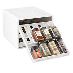 YouCopia® SpiceStack® 24-Bottle Adjustable Spice Rack in White