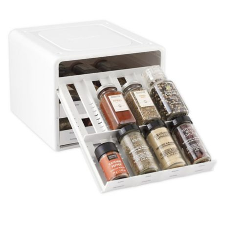 Youcopia Spicestack 24 Bottle Adjustable Spice Rack In White Bed Bath Beyond