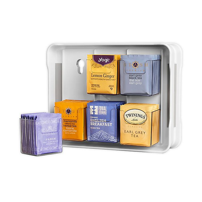 Alternate image 1 for YouCopia® TeaStand® Tea Bag Cabinet Organizer and Caddy