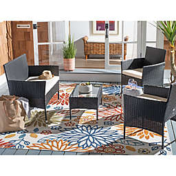 Safavieh Abdul 4-Piece Outdoor Patio Conversation Set
