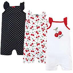 Hudson Baby® Size 12-18M Cherry Short Sleeve Cotton Romper