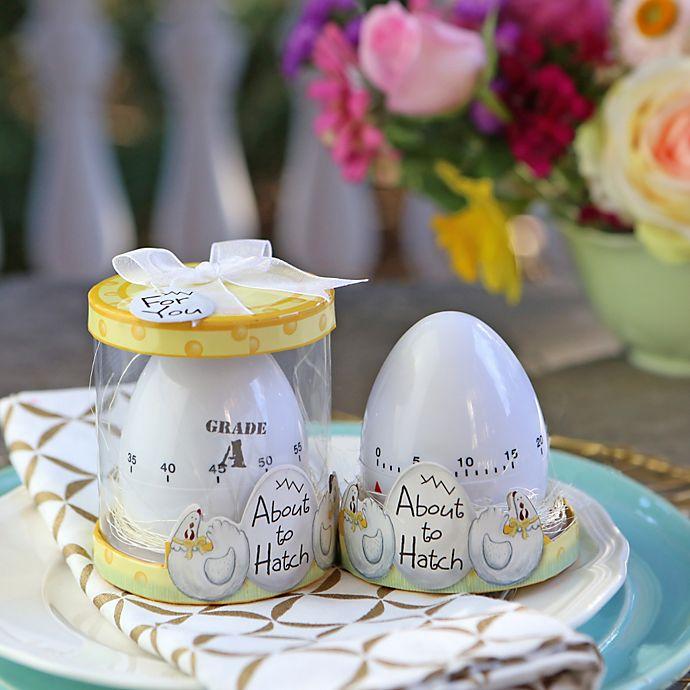 Alternate image 1 for Kate Aspen® About to Hatch Kitchen Egg Timer Baby Shower Favor