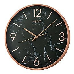 Seiko 16-Inch Noir Wall Clock in Black/Copper