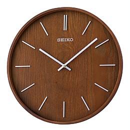 Seiko Maddox 13-Inch Wall Clock in Brown