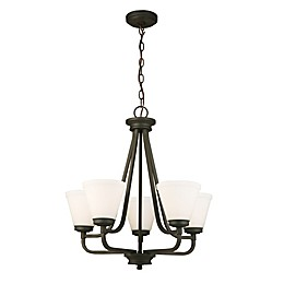 EGLO Mayview Chandelier with Glass Shades