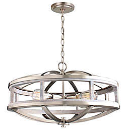 EGLO Montrose 4-Light Chandelier in Brushed Nickel