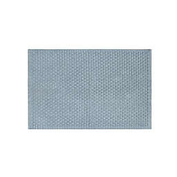 """Bee & Willow™ Home 20"""" x 33"""" Basketweave Bath Rug in Quarry"""