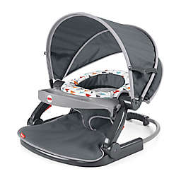 Fisher-Price® Arrows Away On-the-Go Sit-Me-Up Floor Seat in Grey