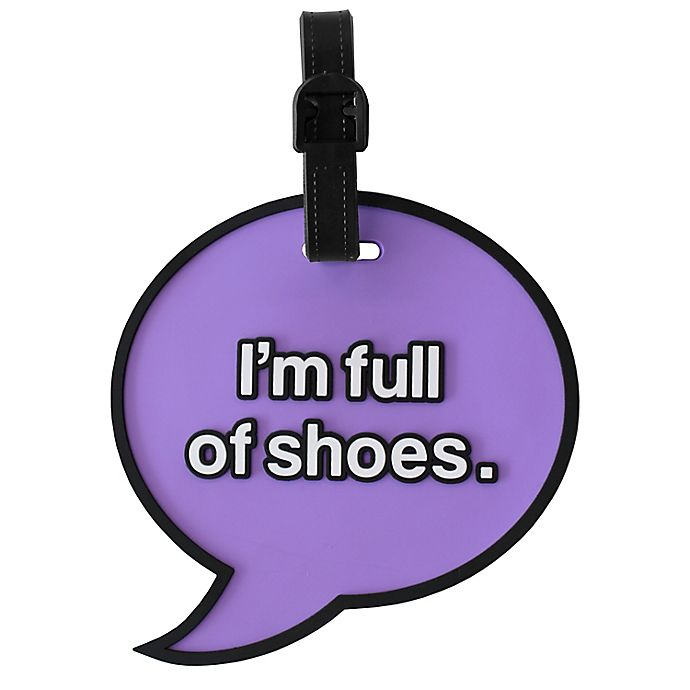 Alternate image 1 for MYTAGALONGS Shoes Luggage Tag in Purple