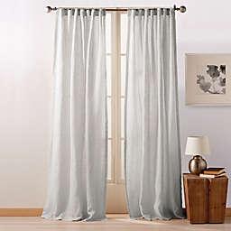DKNY Pure City 108-Inch Rod Pocket/Back Tab Window Curtain in Grey