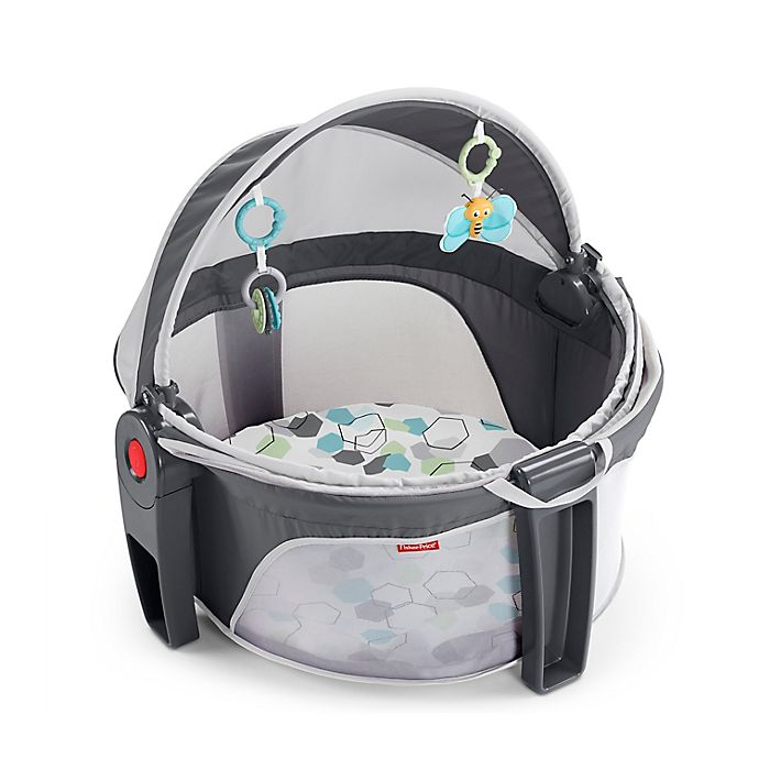 Alternate image 1 for Fisher-Price® Hexagons On-the-Go Baby Dome in Grey