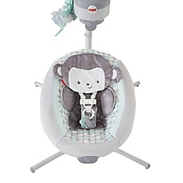 Fisher-Price® Sweet Surroundings Monkey Cradle 'n Swing in Grey/Green