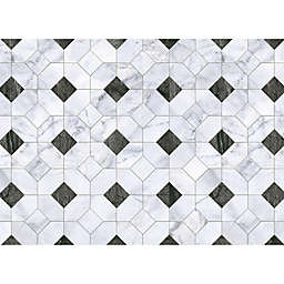 Octagon Placemats in Black/White (Set of 4)