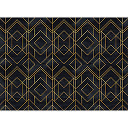 Modern Diamond Placemats in Black (Set of 4)