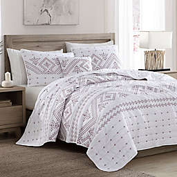 Brielle Cross-Stitched 5-Piece Quilt Set