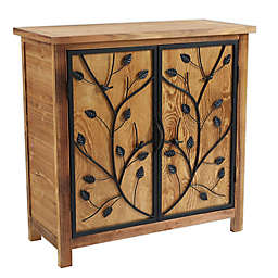 Luxen Home Pinewood Console Storage Cabinet