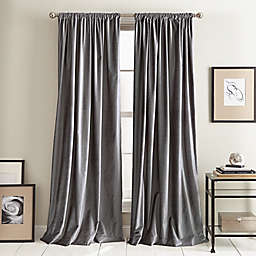 DKNY Modern Knotted Velvet 2-Pack Rod Pocket Room Darkening Window Curtain Panels