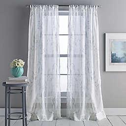 DKNY Whisper 95-Inch Rod Pocket/Back Tab Sheer Window Curtain Panel in Linen
