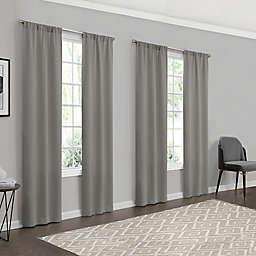 Eclipse Forrester 4-Pack 63-Inch Rod Pocket Room Darkening Window Curtain Panels in Grey