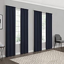 Eclipse Forrester 4-Pack Rod Pocket Room Darkening Window Curtain Panels