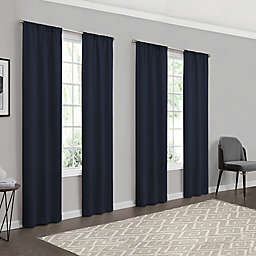 Eclipse Forrester 4-Pack 63-Inch Rod Pocket Room Darkening Window Curtain Panels in Navy