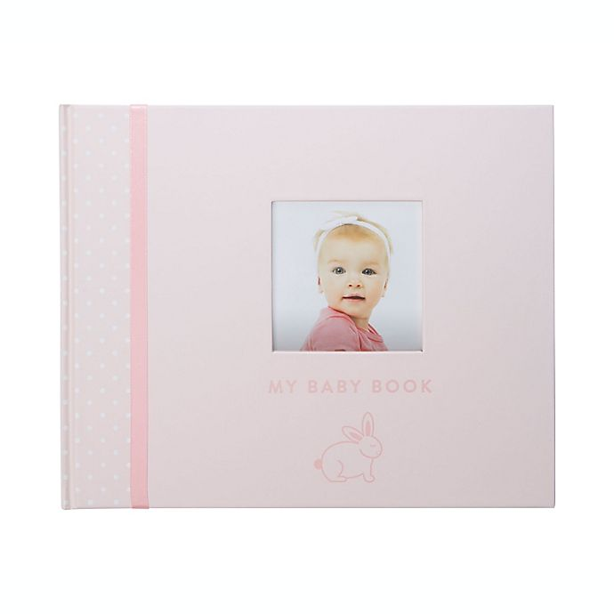 Alternate image 1 for Pearhead® Bunny Baby Memory Book in Pink