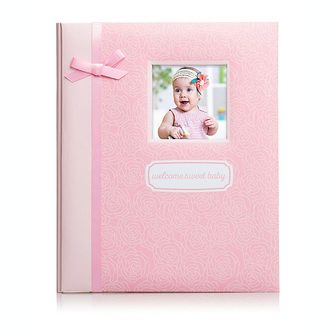 Alternate image 1 for Pearhead® Little Blossoms Baby Memory Book in Pink