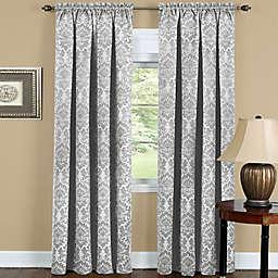 Achim Sutton 84-Inch Rod Pocket Room Darkening Window Curtain Panel in Silver