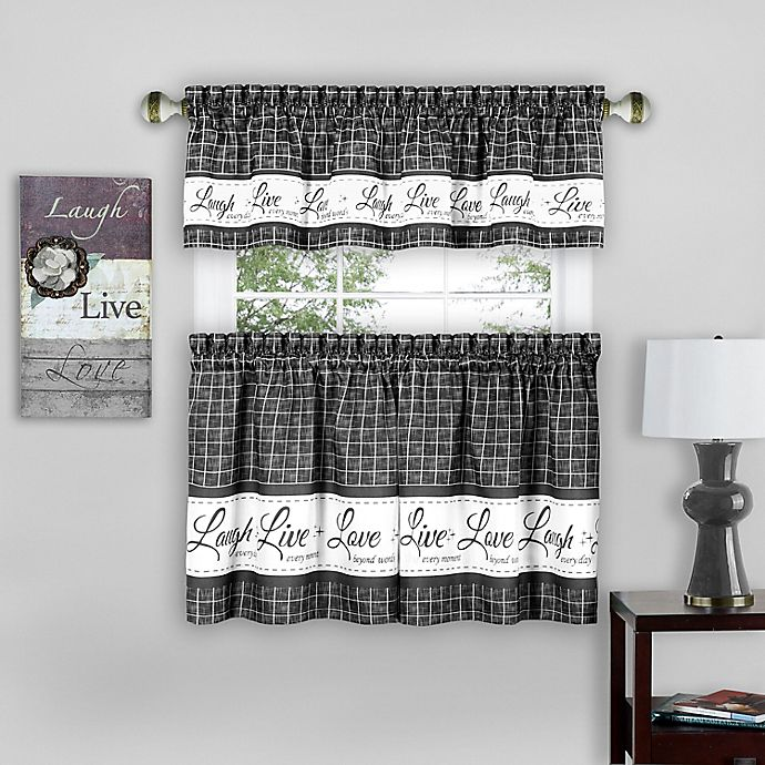 Live Love Laugh Window Curtain Tier Pair and Valance