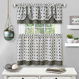 MyHome Callie Kitchen Window Curtain Tier Pair and Valance