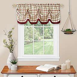 Tattersall Tuck Scalloped Window Valance