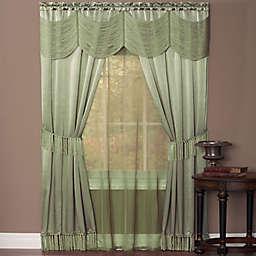 Halley 5-Piece 84-Inch Rod Pocket Window Curtain Set in Sage