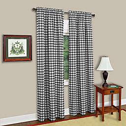 MyHome Buffalo Check Rod Pocket Light Filtering Window Curtain Panel (Single)