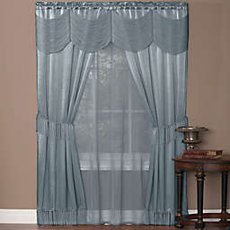 Halley 5-Piece Rod Pocket Window Curtain Set