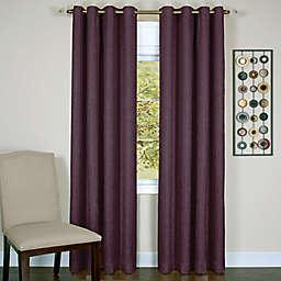 MyHome Taylor 63-Inch Grommet Room Darkening Window Curtain Panel in Aubergine (Single)