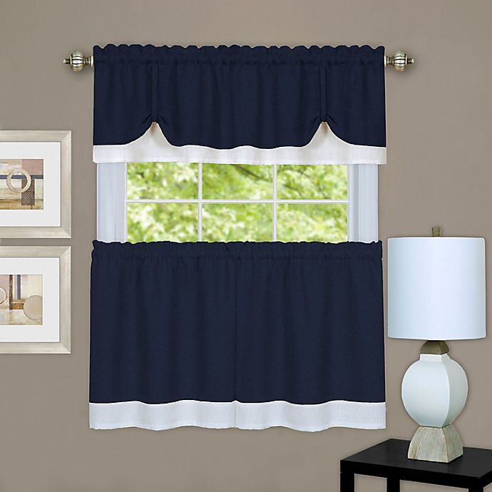 Alternate image 1 for MyHome Darcy Window Curtain Tier Pair and Valance