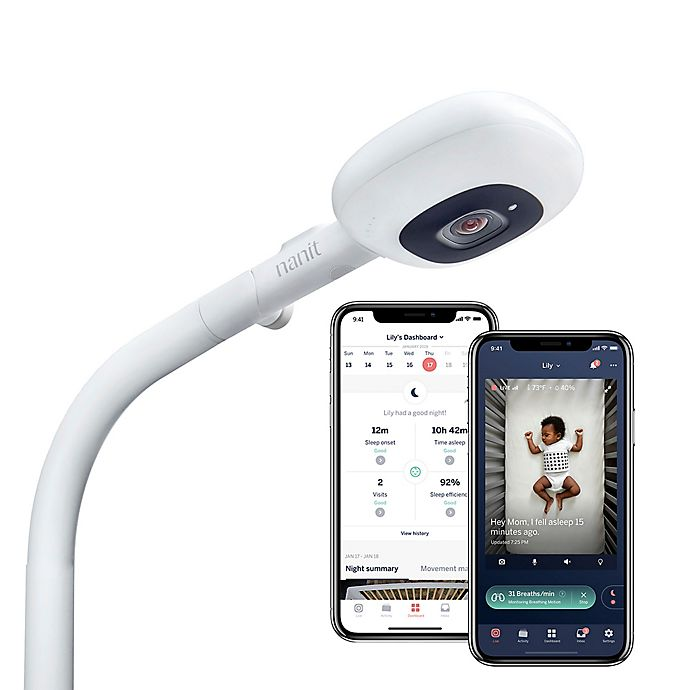Alternate image 1 for Nanit Plus™ Video Floor Stand Baby Monitor with Sleep Tracking