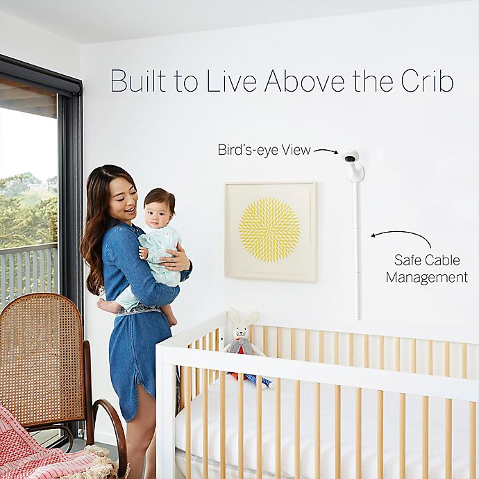 Alternate image 1 for Nanit Plus™ Video Wall Mount Baby Monitor with Sleep Tracking