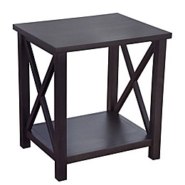Bee & Willow™ Home Crossey End Table in Carbonized Wood
