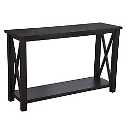 Bee & Willow™ Home Crossey Console Table in Carbonized Wood