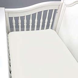 BedVoyage Panda Baby Rayon Viscose Crib Sheet in Ivory