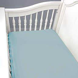 BedVoyage Panda Baby Rayon Viscose Crib Sheet in Sky