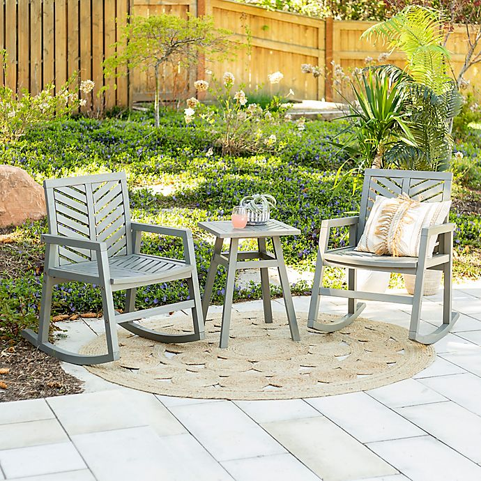 Alternate image 1 for Forest Gate™ 3-Piece Patio Rocking Chair Set
