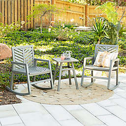 Forest Gate™ 3-Piece Patio Rocking Chair Set