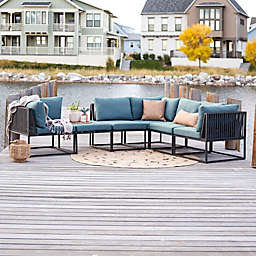 Forest Gate™ 6-Piece Modular Patio Sectional Set in Blue