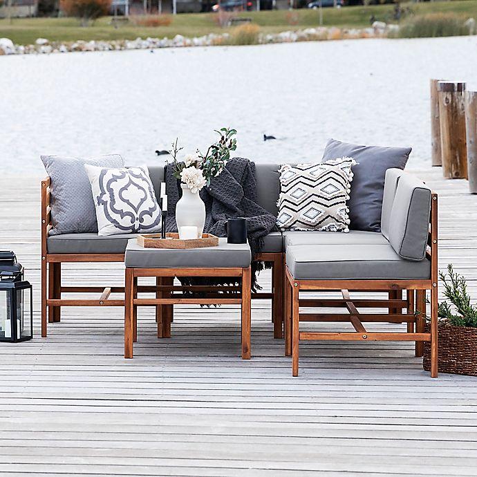Alternate image 1 for Forest Gate™ 6-Piece Modular Acacia Wood Patio Sectional Set