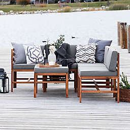 Forest Gate™ 6-Piece Modular Acacia Wood Patio Sectional Set