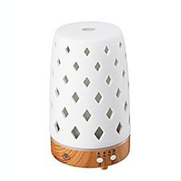 Serene House® Diamond Ceramic Ultrasonic Aromatherapy Diffuser in White
