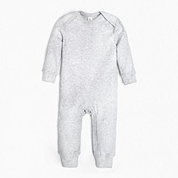Colored Organics Long Sleeve Organic Cotton Romper in Heather Grey