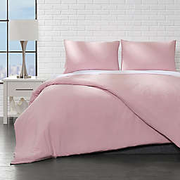Ella Jayne Home Collection Brushed 2-Piece Twin Duvet Cover Set in Rose